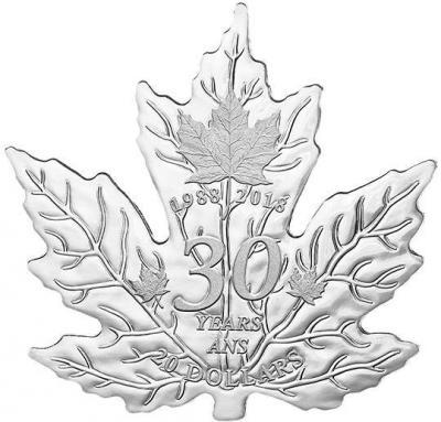 Канада 20 долларов 2018 «Кленовый лист» (реверс).jpg