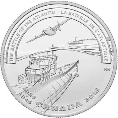 Канада 20 долларов 2018 «Битва за Атлантику» (реверс).jpg