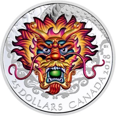 Канада 25 долларов 2018 «Праздник драконьих лодок» (реверс).jpg