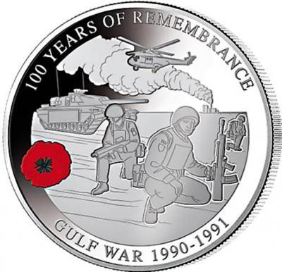 Соломоновы острова 1 доллар 2018 год «GULF WAR 1990 - 1991» (реверс).jpg