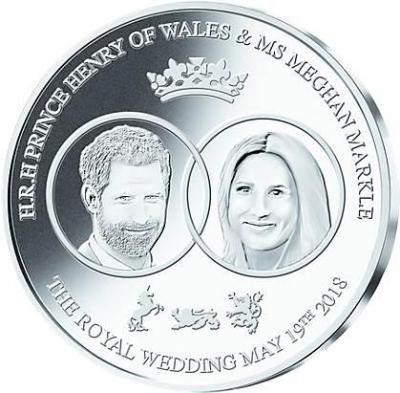 Соломоновы острова 1 доллар 2018 год  «принц Гарри Уэльский и Меган Маркл» (реверс)).jpg