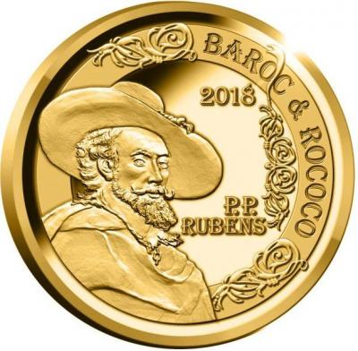 Бельгия 50 евро 2018 год «Рубенс» (реверс).jpg