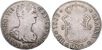 Fernando VII. Gerona. 5 pesetas. 1809. Cy15797 (30.000 €). Diámetro 39,09mm. 26,98 g..jpg