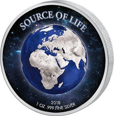 Бенин 1000 франков КФА 2018 год «Источник жизни» (реверс).jpg
