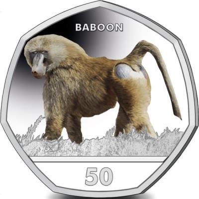Гибралтар 50 центов 2018 года «Бабуин».jpg