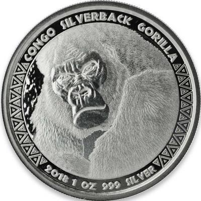 Конго 5000 франков КФА 2018 год «Горилла» (реверс).jpg