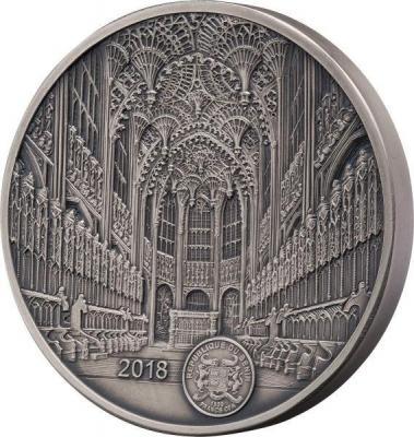 Бенин 1500 фракков КФА 2018 год «Вестминстерское аббатство» (аверс).jpg