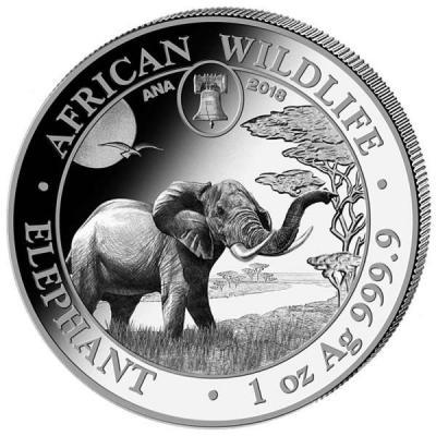 Сомали 100 шиллингов 2018 год «Слон» (реверс).jpg