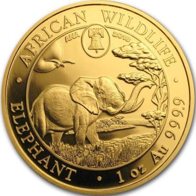 Сомали 1000 шиллингов 2018 год «Слон» (реверс).jpg