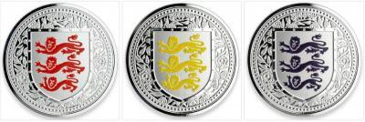Гибралтар 1 фунт 2018 года «Герб Англии».jpg