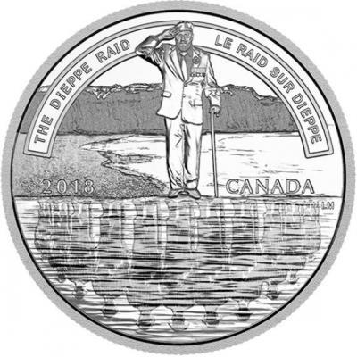 Канада 20 долларов 2018 год «Битва за Дьеп» (реверс).jpg
