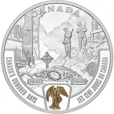 Канада 20 долларов 2018 год «Конец Первой мировой войны» (реверс).jpg