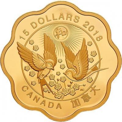 Канада 15 долларов 2018 год «Благословение гармонии» (реверс).jpg