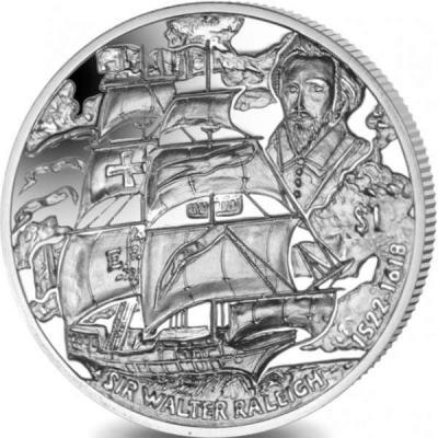 Британские Виргинские острова 1 доллар 2018 год «Уолтер Рэли» (реверс).jpg