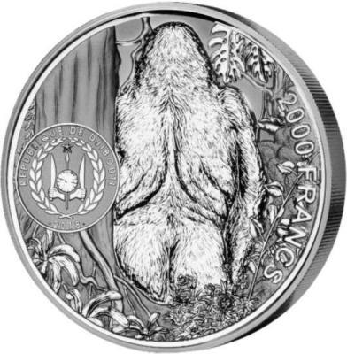 Джибути 2000 франков 2018 год «Горилла» (аверс).jpg