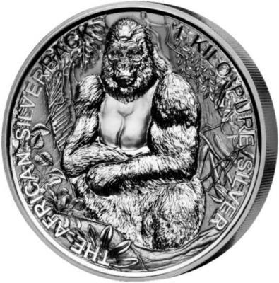 Джибути 2000 франков 2018 год «Горилла» (реверс).jpg
