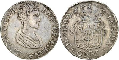 1809. Fernando VII. Lerida. 5 pesetas. Extraordinaria. 27,0g.jpg