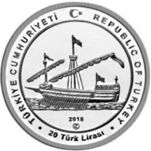 Турция 20 лир 2018 «ORUÇ REİS» (аверс).jpg