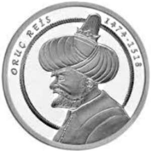 Турция 20 лир 2018 «ORUÇ REİS» (реверс).jpg