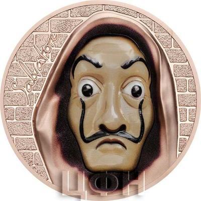 Острова Кука 5 долларов 2018 «маска испанского живописца Сальвадора Дали» (реверс).jpg