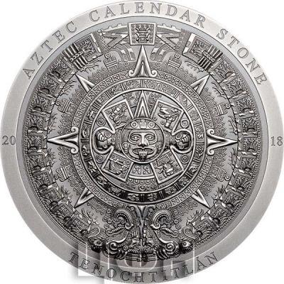 Острова Кука 20 долларов 2018 «Камень ацтекского календаря» (реверс).jpg