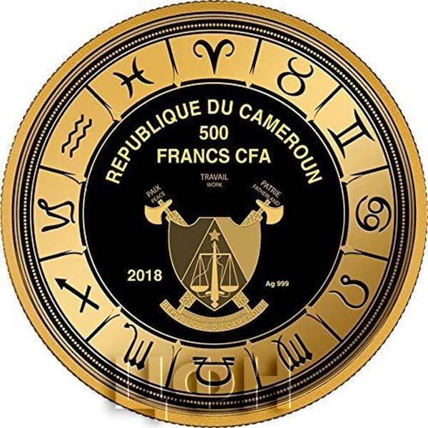 Камерун 500 франков 2018 год «Знаки Зодиака» (аверс).jpg