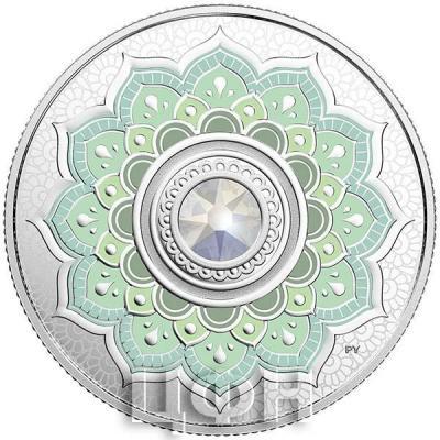 Канада 5 долларов 2018 «Опал камень октября» (реверс).jpg