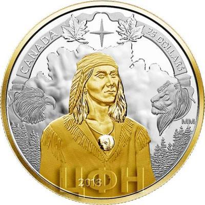 Канада 25 долларов 2018 «250 лет со дня рождения Текумсе» (реверс).jpg