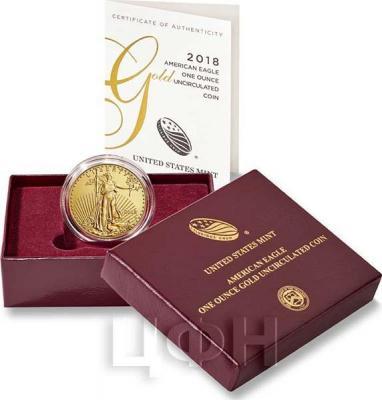 США 50 долларов 2018 год «Золотой орел» (упаковка).jpg