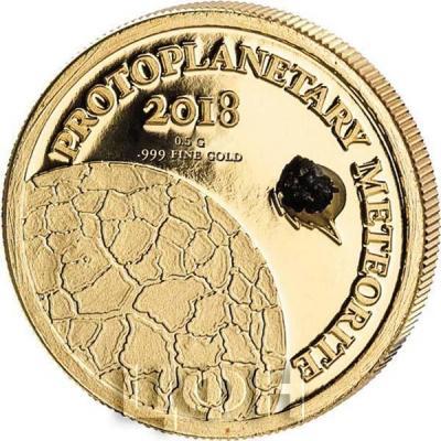 Конго 100 франков 2018 года «PROTOPLANETARY METEORITE» (реверс).jpg