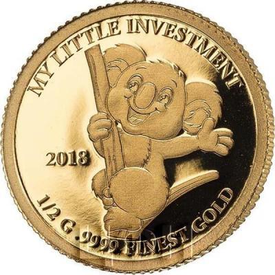 Соломоновы острова 10 долларов 2018 год «Коала» (реверс).jpg