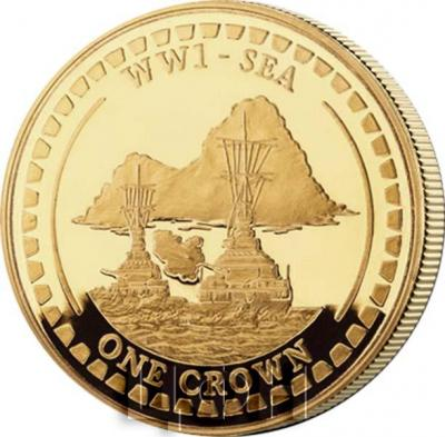 Гибралтар 1 крона 2018 «На земле» (реверс).jpg