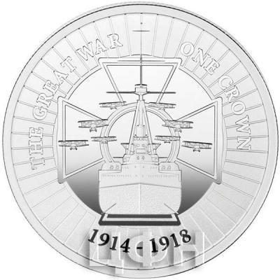Гибралтар 1 крона 2018 год «Првая мировая война» (реверс).jpg