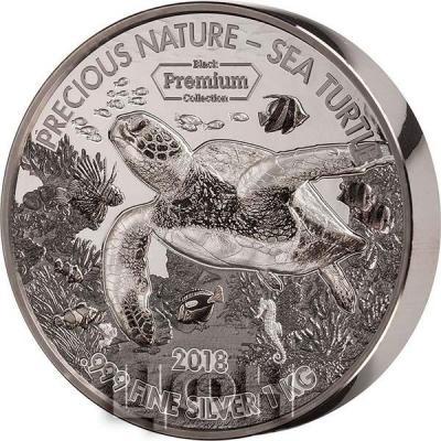 Бенин 10000 франков кфа 2018 «Морские черепахи. Precious Nature Palladium» (реверс).jpg