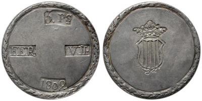SPAIN. Tarragona. 5 Pesetas, 1809. 26,79 g.jpg