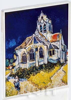Соломоновы острова полдоллара 2018 год «Церковь в Овере. Винсент ван Гог» (реверс).jpg