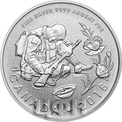 Канада 10 долларов 2018 года «Перемирие 100 лет» (реверс).jpg