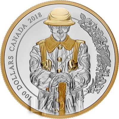 Канада 100 долларов 2018 года «Солдат» (реверс).jpg