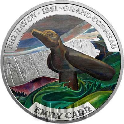Канада 50 долларов 2018 год «Известное канадское искусство Эмили Карр» (реверс).jpg