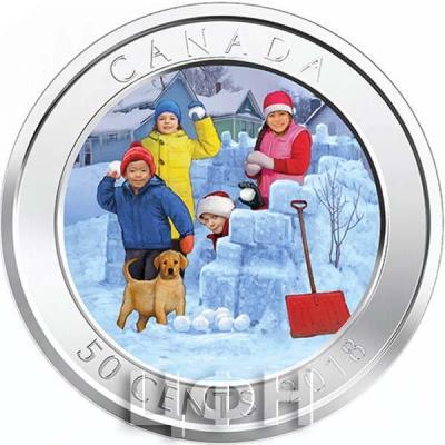 Канада 50 центов 2018 год Игра в снежки (реверс).jpg