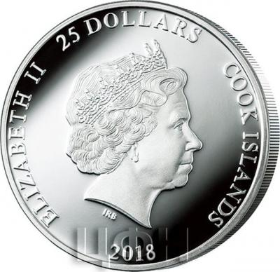 Острова Кука 25 долларов 2018 год серебро (аверс).jpg