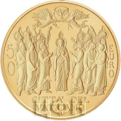Ватикан 50 евро «Пятидесятница» (аверс).jpg