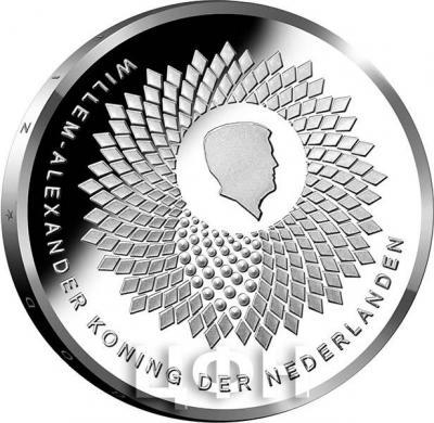 Нидерланды 5 евро 2018 год «100 лет Университету Вагенингена» (аверс).jpg