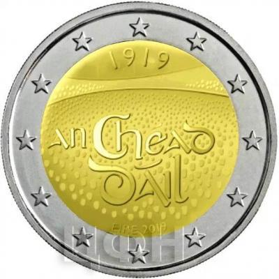 Ирландия 2 евро 2019 год.jpg
