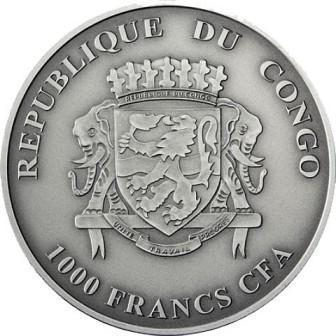 Конго 1000 франков 2018 Горилла с детенышем (2).jpg