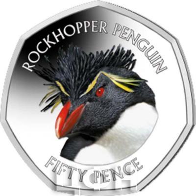 Фолклендские острова 50 центов 2018 «ROCKHOPPER PENGUIN» (реверс).jpg