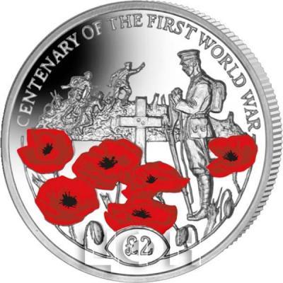 Британская Территория в Индийском Океане 2 фунта «100 лет окончания Первой мировой» (реверс).jpg