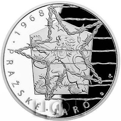 Самоа 5 долларов 2018 «Революционные восьмерки Чехословакии 1968 год» (реверс).jpg