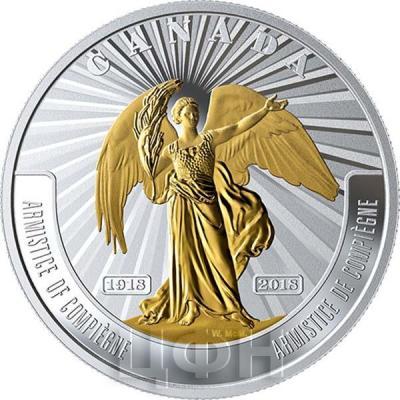 Канада 20 долларов 2018 год «Перемирие» (реверс).jpg