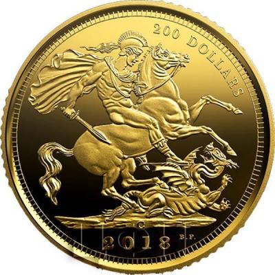 Канада 100 долларов 2018 год «Соверен» (реверс).jpg